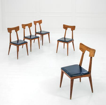 Lina bo bardi para cassina cinco sillas de roble circa for Mesas comedor escandinavas