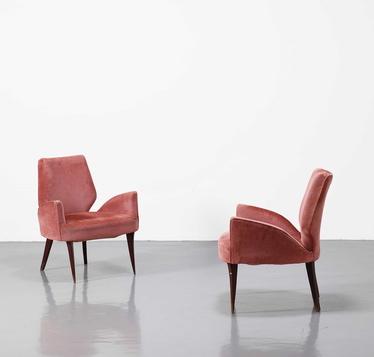 Pareja de sillones originales de los a os 50 terciopelo modernario - Sillones originales ...